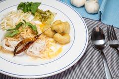 Aletria tailandesa comida com caril Imagem de Stock