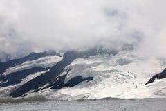 Aletsch冰川在少女峰地区 库存图片