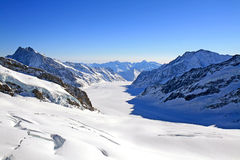 aletsch冰川极大的瑞士 免版税库存照片
