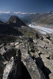 aletsch παγετώνας Ελβετός ορών Στοκ φωτογραφία με δικαίωμα ελεύθερης χρήσης