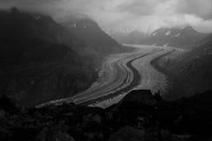 Aletsch glaciär Arkivfoto