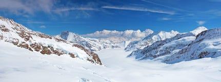Aletsch glacier. Jungfrau region, Switzerland royalty free stock photography