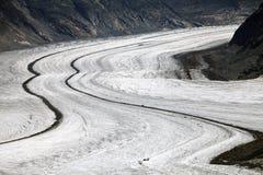 Aletsch Glacier Stock Photography