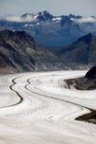 Aletsch Glacier. In Berner Oberland, Switzerland, Europe royalty free stock images