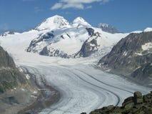 Aletsch Glacier. Biggest Glacier in the Alps stock photography