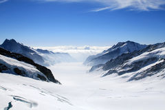 Aletsch glacier. View from the Jungfrau stock image