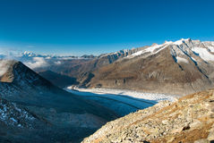 Aletsch glacier Stock Photos