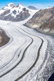 Aletsch Glacier in the Alps of Switzerland royalty free stock image
