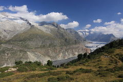 Aletsch glacier - Bernese Alps Stock Images