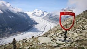 Aletsch Glacier. In Bernese Alps, Switzerland royalty free stock photo