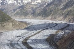 Aletsch glacier Royalty Free Stock Photos