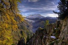 Aletsch Glacier. HDR of the Aletsch Glacier in Switzerland stock photo