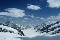Aletsch glacier of jungfrau Stock Images