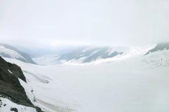 Aletsch glacier in Jungfrau region Stock Images