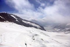 Aletsch glacier in Jungfrau region Stock Image