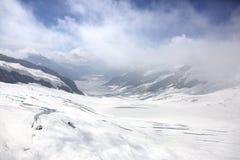 Aletsch glacier in Jungfrau region Stock Photo