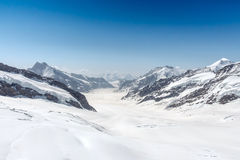 Aletsch Glacier in the Jungfraujoch, Alps, Switzerland Royalty Free Stock Photos