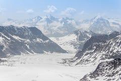 Aletsch Glacier in the Jungfraujoch, Alps, Switzerland Royalty Free Stock Image