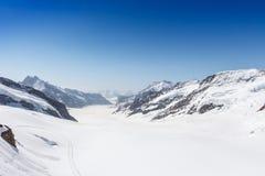 Aletsch Glacier in the Jungfraujoch, Alps, Switzerland Royalty Free Stock Photography