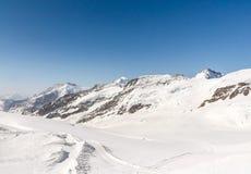 Aletsch Glacier in the Jungfraujoch, Swiss Alps, Switzerland. Aletsch Glacier landscape in the Jungfraujoch, Alps, Switzerland stock image