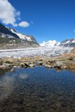 Aletsch glacier with lake Stock Photography