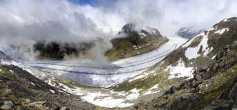 Aletsch glacier, the largest gracier in Alps Royalty Free Stock Image