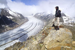 Aletsch glacier, the largest gracier in Alps. Royalty Free Stock Image
