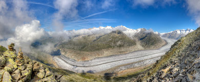 Aletsch glacier panorama, Switzerland Stock Photography