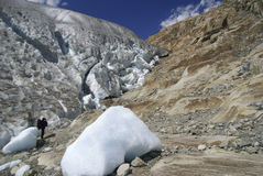 Aletsch Glacier. In southern Switzerland - the largest glacier in Europe Royalty Free Stock Images