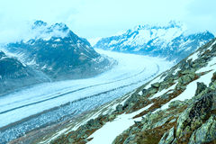 Great Aletsch Glacier (Bettmerhorn, Switzerland) Royalty Free Stock Photography
