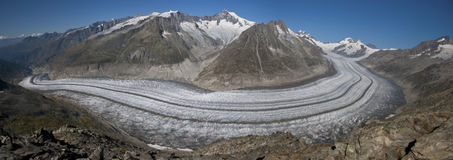 Aletsch glacier, Swiss Alps Royalty Free Stock Images