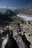 Aletsch glacier, Swiss Alps Royalty Free Stock Photo