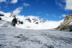 Aletsch Glacier, Switzerland. Aletsch Glacier in the Alps, Switzerland Royalty Free Stock Image