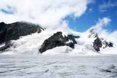 Aletsch Glacier, Switzerland. Aletsch Glacier in the Alps, Switzerland Royalty Free Stock Images