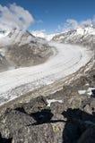 Aletsch Glacier, Switzerland Stock Photography