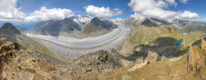 Aletsch glacier, Switzerland Royalty Free Stock Images