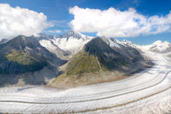 Aletsch glacier, Switzerland Stock Image