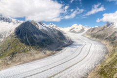 Aletsch glacier, Switzerland Stock Photo