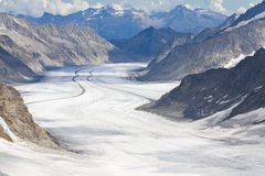 Aletsch glacier, Switzerland Royalty Free Stock Image