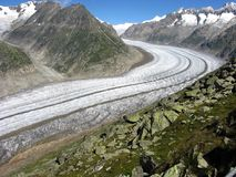Aletsch Glacier, Switzerland Royalty Free Stock Photos