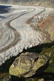 Aletsch Glacier, Switzerland Stock Photos