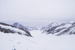 Aletsch glacier view from the Jungfraujoch, Switzerland Stock Photography