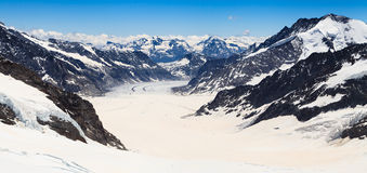 Aletsch glacier view from the Jungfraujoch, Switzerland Stock Image