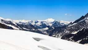 Aletsch glacier view from the Jungfraujoch, Switzerland Royalty Free Stock Photography