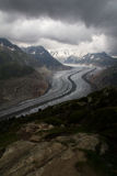 Aletsch Glacier Viewpoint Stock Photography