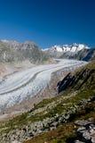 Aletsch Gletscher lizenzfreies stockbild