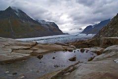 Aletsch Gletscher Lizenzfreies Stockfoto