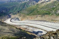 Aletsch Gletscher Stockfoto