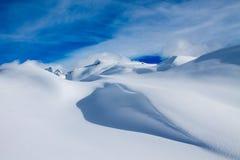 Aletsch Gletscher/Aletsch冰川 免版税库存照片