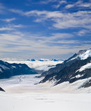 Aletsch Gletscher in den Alpen, die Schweiz Stockbild